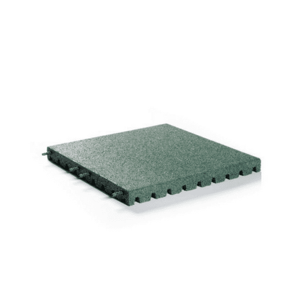 Kummimatt mänguväljakule 500x500x30mm roheline