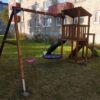 Mänguväljak Cascade + kiigemoodul Swing (pruun immutus)