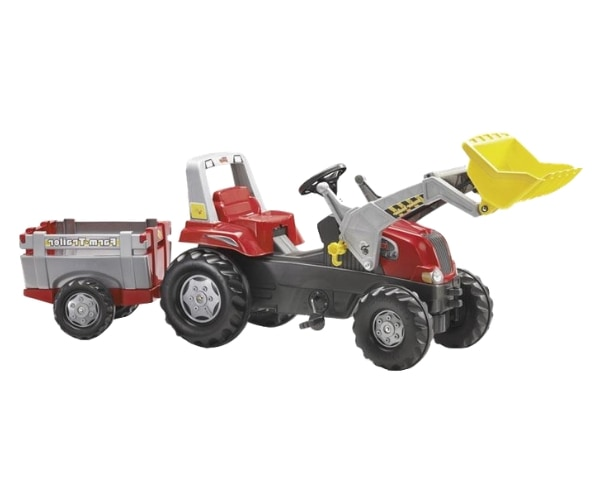 Pedaalidega traktor karu ja kopaga Rolly Junior RT
