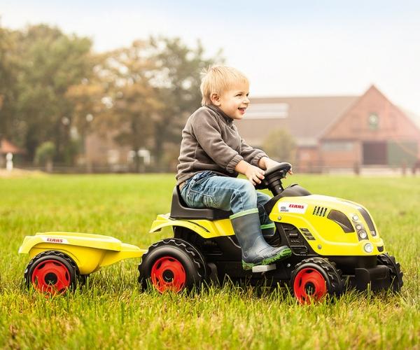Smoby traktor pedaalidega Claas Farmer XL +käru