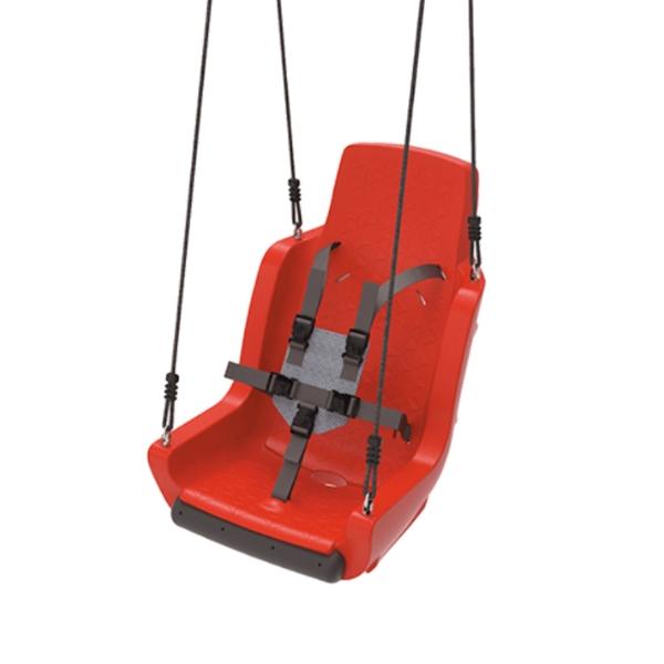 Kiigeiste erivajadustega lastele turvarihmadega 'Chainset' punane