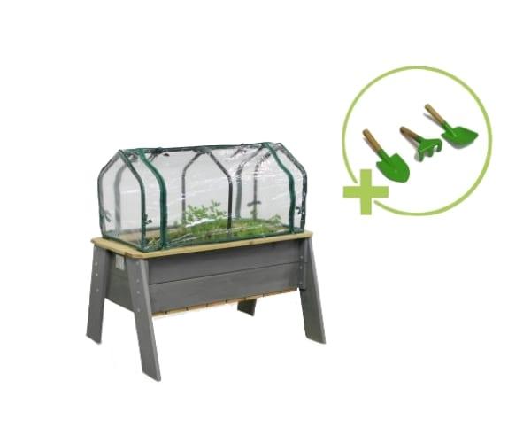 Laste taimekasvatuse laud + kasvuhoone (68x94 cm)