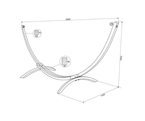 Võrkkiik + võrkkiige raam Standard
