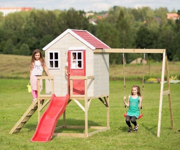 Laste mängumaja Mirell 6 + liumägi 1,75m (1,92m2)