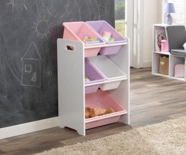 KidKraft mänguasjade riiul '5 Bin' pastelne