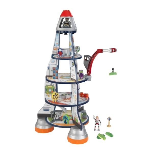 Mängukomplekt poistele 'KidKraft' Rocket Ship (17-osaline)