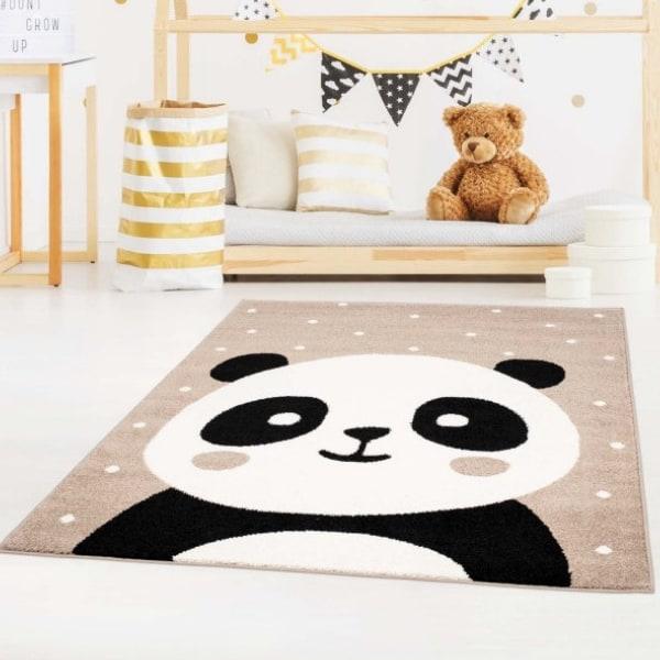 Pehme lastetoa vaip 'Suur panda' beež