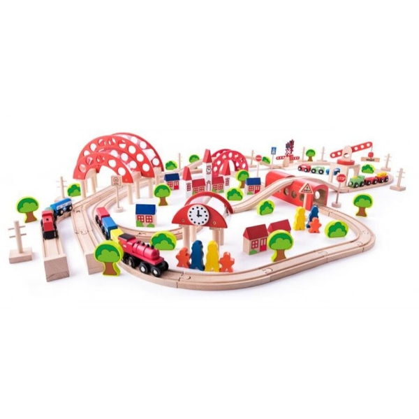 Puidust rongirada 'Suur linn' (130-osaline)