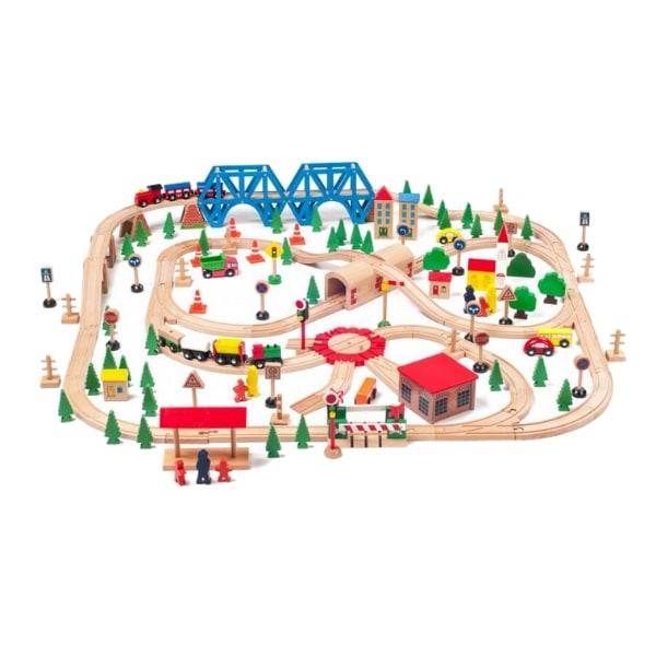 Puidust rongirada 'Suur linn' (170-osaline) + puidust suur kast