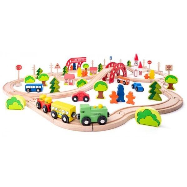 Puidust rongirada 'Väike linn' (90-osaline)