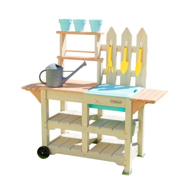 KidKraft puidust aedniku töölaud koos tarvikutega 'Greenville Gardena'