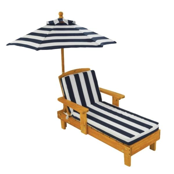 Laste lamamistool päikesevarjuga 'KidKraft' Sinine-Valge