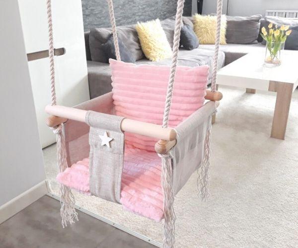 Beebikiik tuppa Pink Minky, linane-samet (roosa)