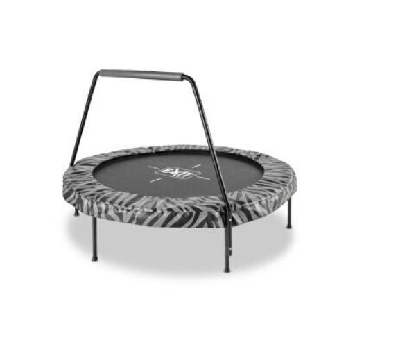 EXIT batuut 'Tiggy junior' Ø140cm + käetugi ja pehmendusmatt, must/hall