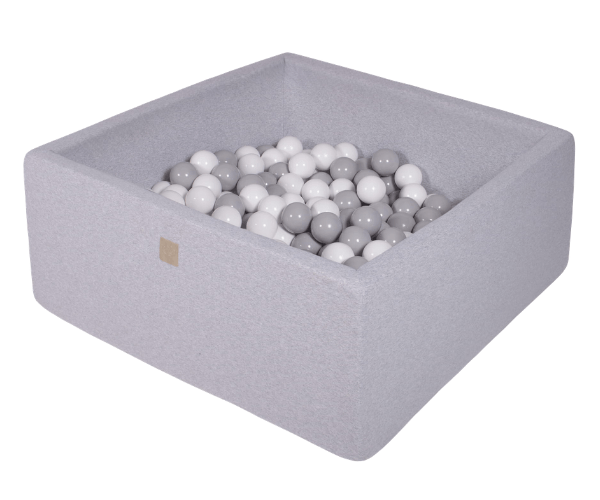 Pallimeri kandiline Meow 90x90/40cm + 200 palli (helehall-hall mix)