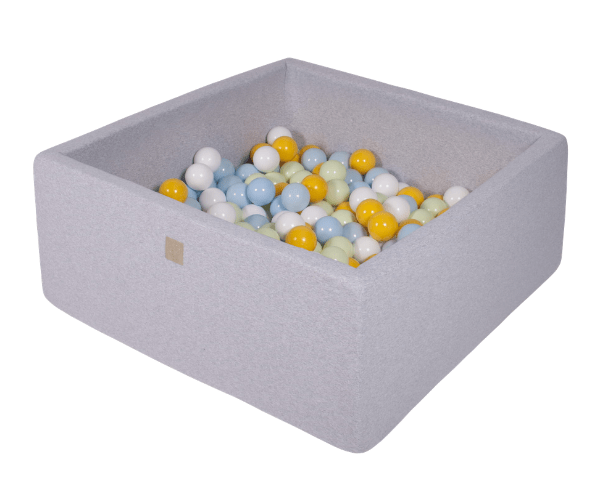 Pallimeri kandiline Meow 90x90/40cm + 200 palli (helehall-heleroheline mix)
