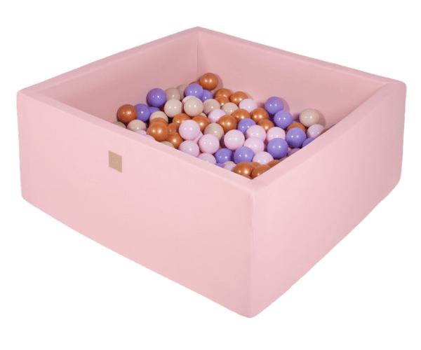 Pallimeri kandiline Meow 90x90/40cm + 200 palli (roosa-lilla mix)