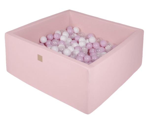 Pallimeri kandiline Meow 90x90/40cm + 200 palli (roosa-roosa mix)