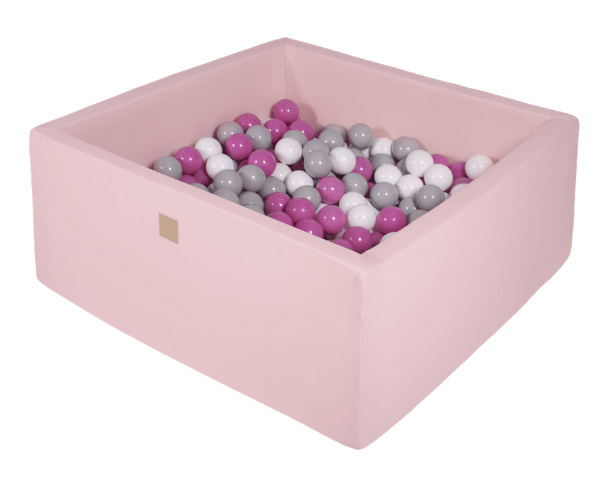 Pallimeri kandiline Meow 90x90/40cm + 200 palli (roosa-tuhmroosa mix)