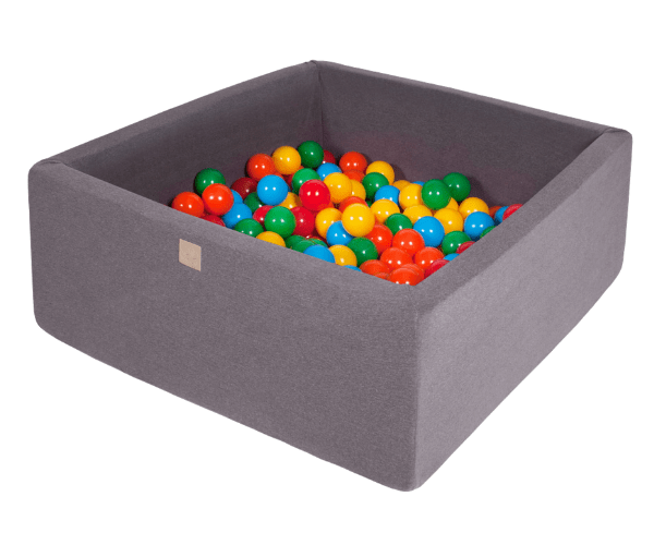 Pallimeri kandiline Meow 90x90/40cm + 200 palli (tumehall-erkvärvi mix)
