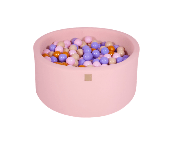 Pallimeri ümmargune Meow 90/40cm + 300 palli (roosa-lilla mix)