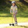 Laste tõukeratas Micro Maxi Deluxe (kollane)