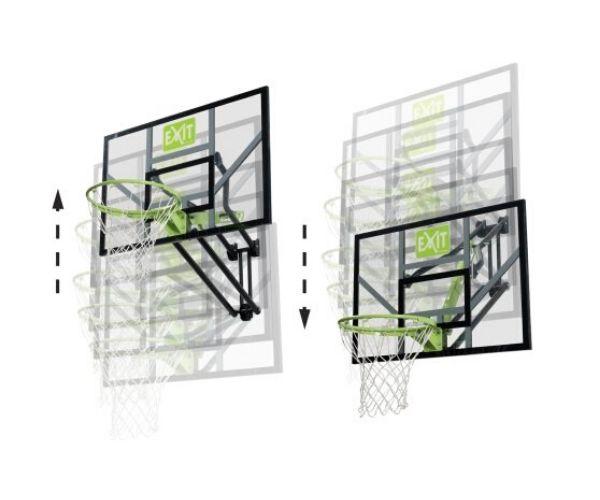 Seinale kinnitatav korvpallilaud EXIT Galaxy + korvirõngas