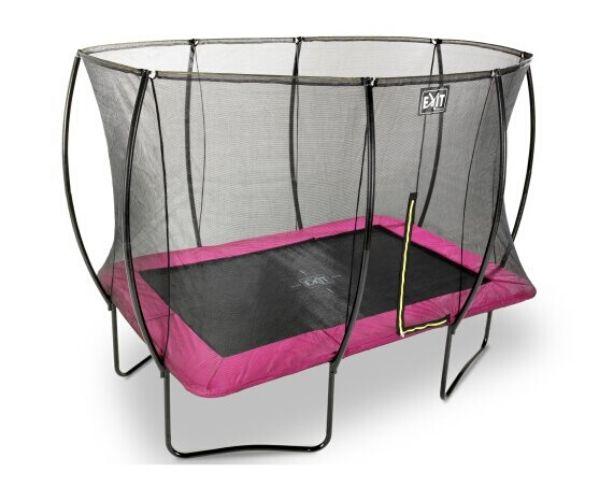 EXIT batuut 'Siluett' 214x305cm + ohutusvõrk ja vedrukate, roosa