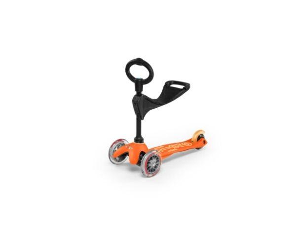 Laste tõukeratas Micro Mini Deluxe 3in1 (oranž), lastele 12+ kuud