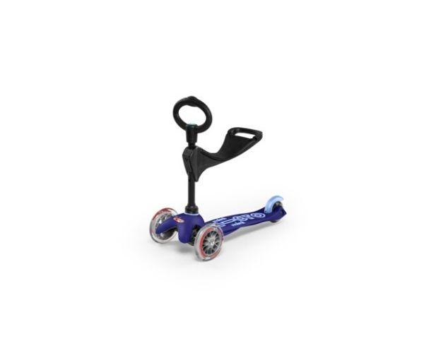 Laste tõukeratas Micro Mini Deluxe 3in1 (sinine), lastele 12+ kuud