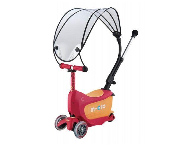 Micro Mini2Go Deluxe 3in1 Plus Varjuga rubiin punane