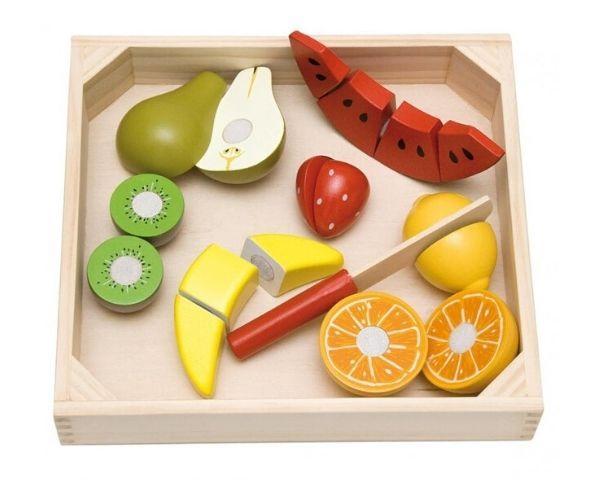 Puidust puuviljade mängukomplekt