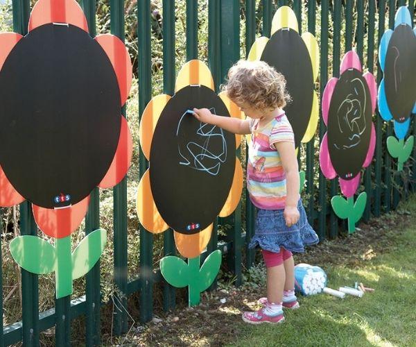 Lillekujulised joonistustahvlid õue (5tk)