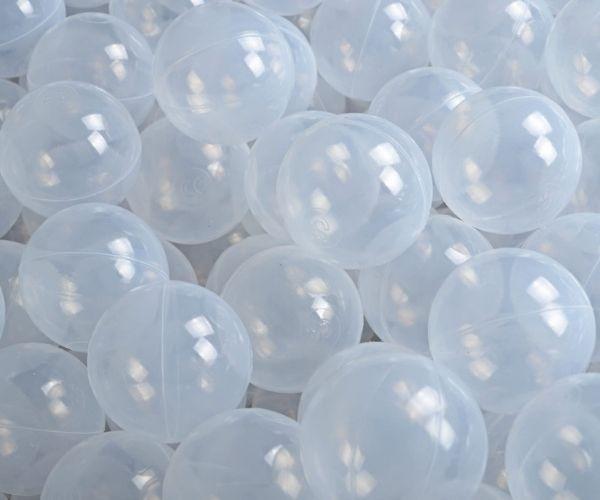 Pallimere pallid MeowBaby 7cm 50palli (läbipaistev valge)