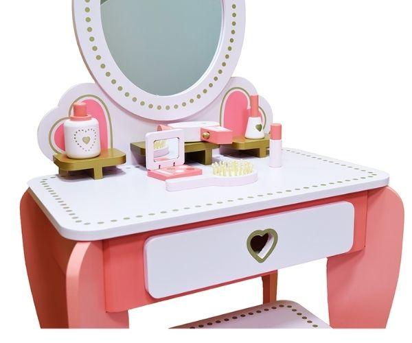 """Tüdruku meigilaud ja tool (buduaarilaud) 'Südameke"""""""