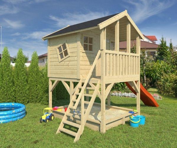 Laste mängumaja Bella (2,76m²) liivakastiga