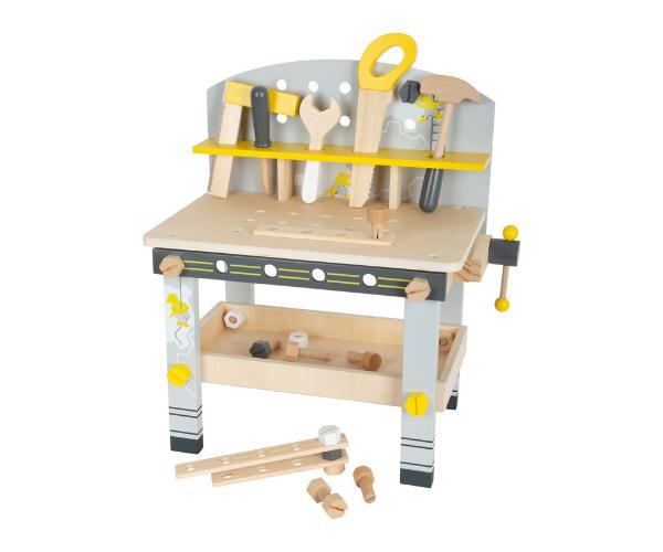 Laste puidust kompaktne töölaud Miniwob + 23 tarvikut