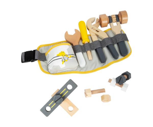 Laste tööriistavöö puidust tarvikutega, Miniwob