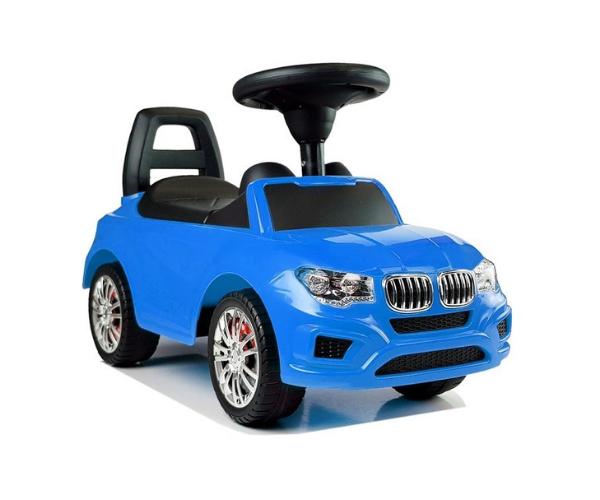 Pealeistutav tõukeauto _SuperCar_ No. 5 helidega, sinine