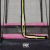 EXIT batuut maapinnale 'Siluett' 214x305cm + ohutusvõrk ja vedrukate, roosa