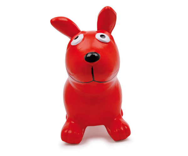 Hüppeloom koer Bodo, punane