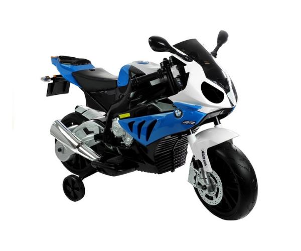 Laste elektrimootorratas 1x45W BMW S1000RR,sinine-must-valge (2)