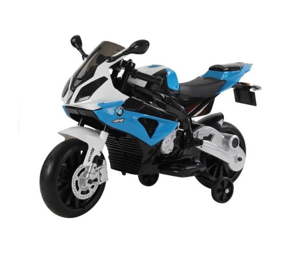 Laste elektrimootorratas 1x45W BMW S1000RR,sinine-must-valge