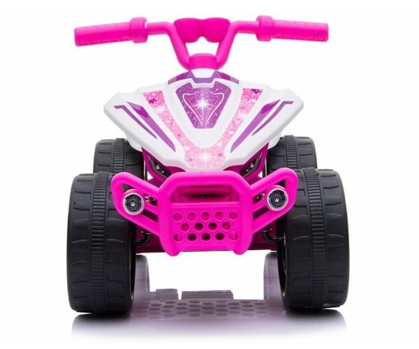 Laste elektriline ATV Quad 1x35W, roosa-valge (2)