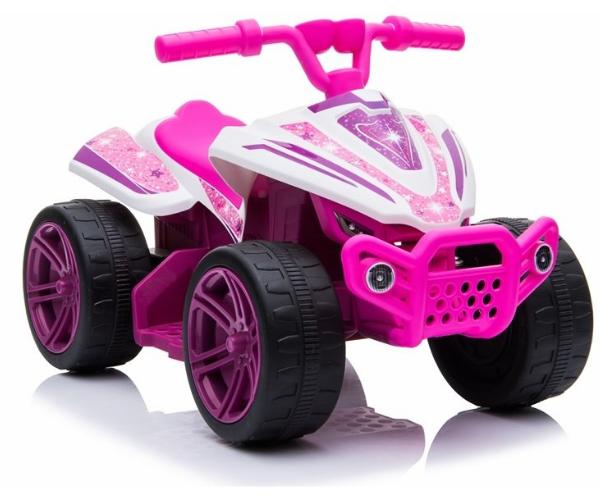 Laste elektriline ATV Quad 1x35W, roosa-valge