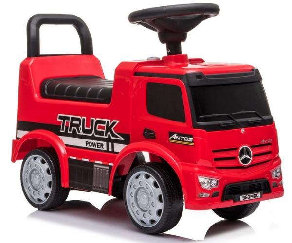 Pealeistutav auto Mercedes Antos Truck helidega, punane